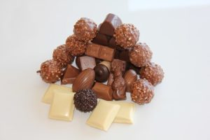 Pile of chocolates and truffles