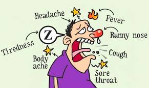 a cartoon of acute illness